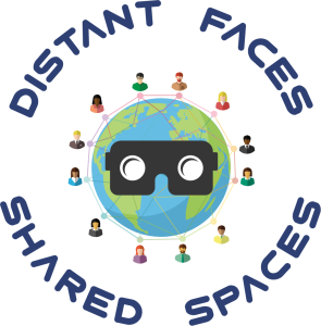 Distant Faces Shared Spaces Logo (Blue)