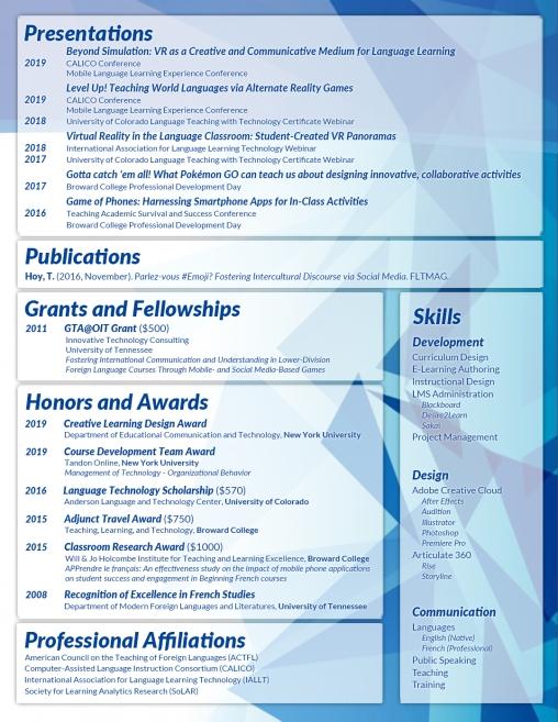 CV Page 2 (May 19)